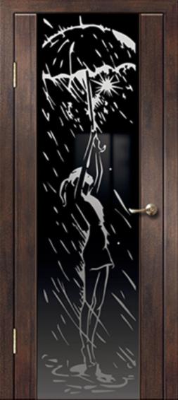 Межкомнатная дверь АЛЕКСАНДРОВСКИЕ Триплекс Дождь