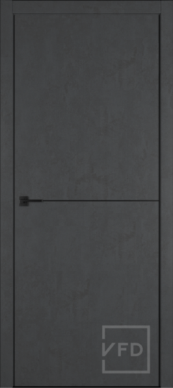 Межкомнатная дверь ВФД URBAN 1. JET LOFT, BLACK MOULD, BE
