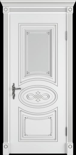 Межкомнатная дверь ВФД Bianca  CLASSIC PG, стекло ART CLOUD