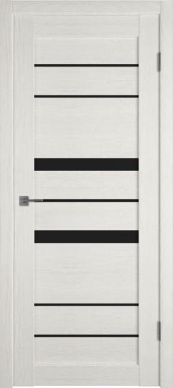 Межкомнатная дверь ВФД Light 30  LATTE L. BLACK GLOSS