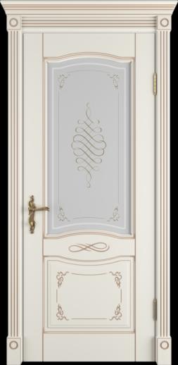 Межкомнатная дверь ВФД Vesta. BIANCO CLASSIC PG, стекло ART CLOUD