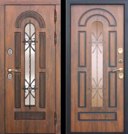 Дверь входная металлическая FERRONI VITRA Винорит Патина