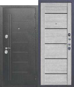 Дверь входная металлическая FERRONI Троя 10см Серебро Царга
