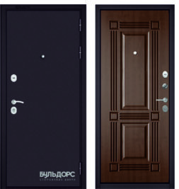 Дверь входная металлическая БУЛЬДОРС Mass 70 дуб шоколад С-4