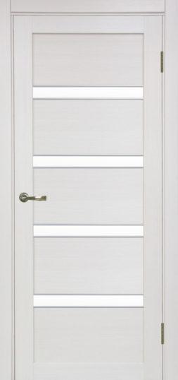 Межкомнатная дверь Оптима Порте, Турин 505 APS SC с молдингом, ясень перламутровый