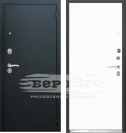 Дверь входная металлическая БЕРЛОГА Тринити Гладкая Белая эмаль Soft